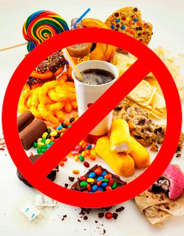 refrescos,pan y papas mala alimentación